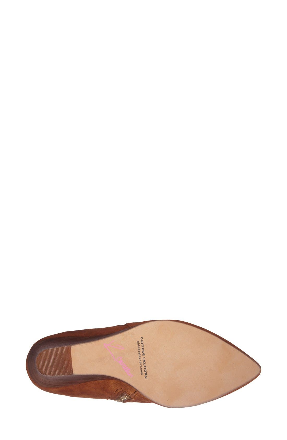 'Candyce' Wedge Bootie,                             Alternate thumbnail 4, color,                             Ginger Suede