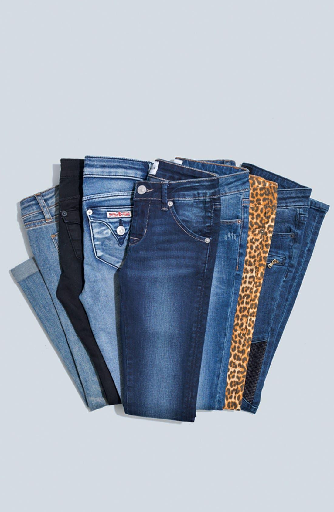 Alternate Image 3  - Hudson Kids 'Collin' Flap Pocket Skinny Jeans (Big Girls)