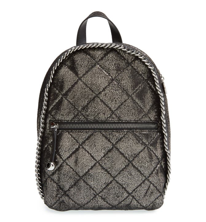 Stella McCartney 'Mini Falabella' Quilted Faux Leather Backpack ... : quilted faux leather backpack - Adamdwight.com