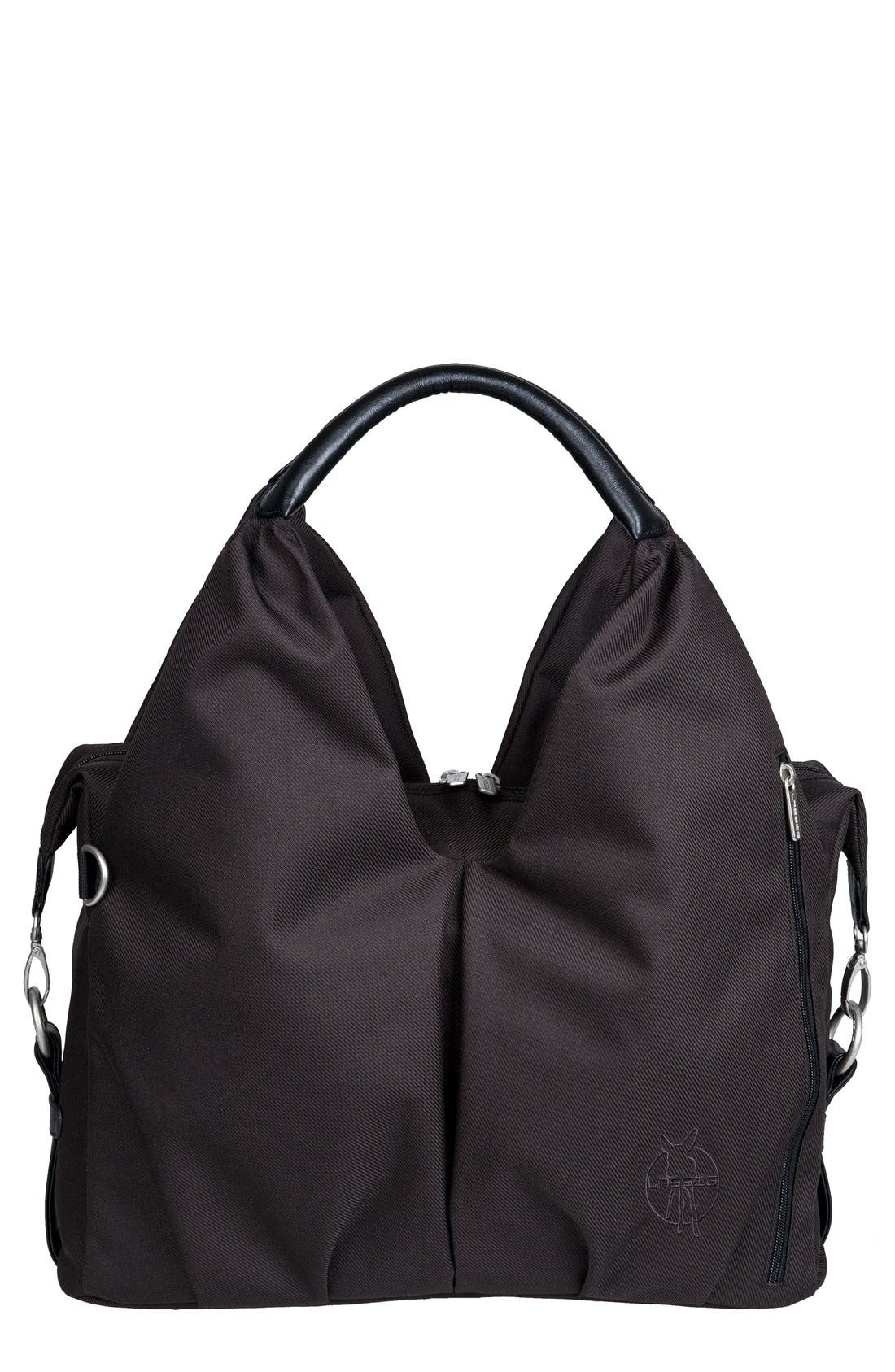 'Green Label - Neckline' Diaper Bag,                             Main thumbnail 1, color,                             Black