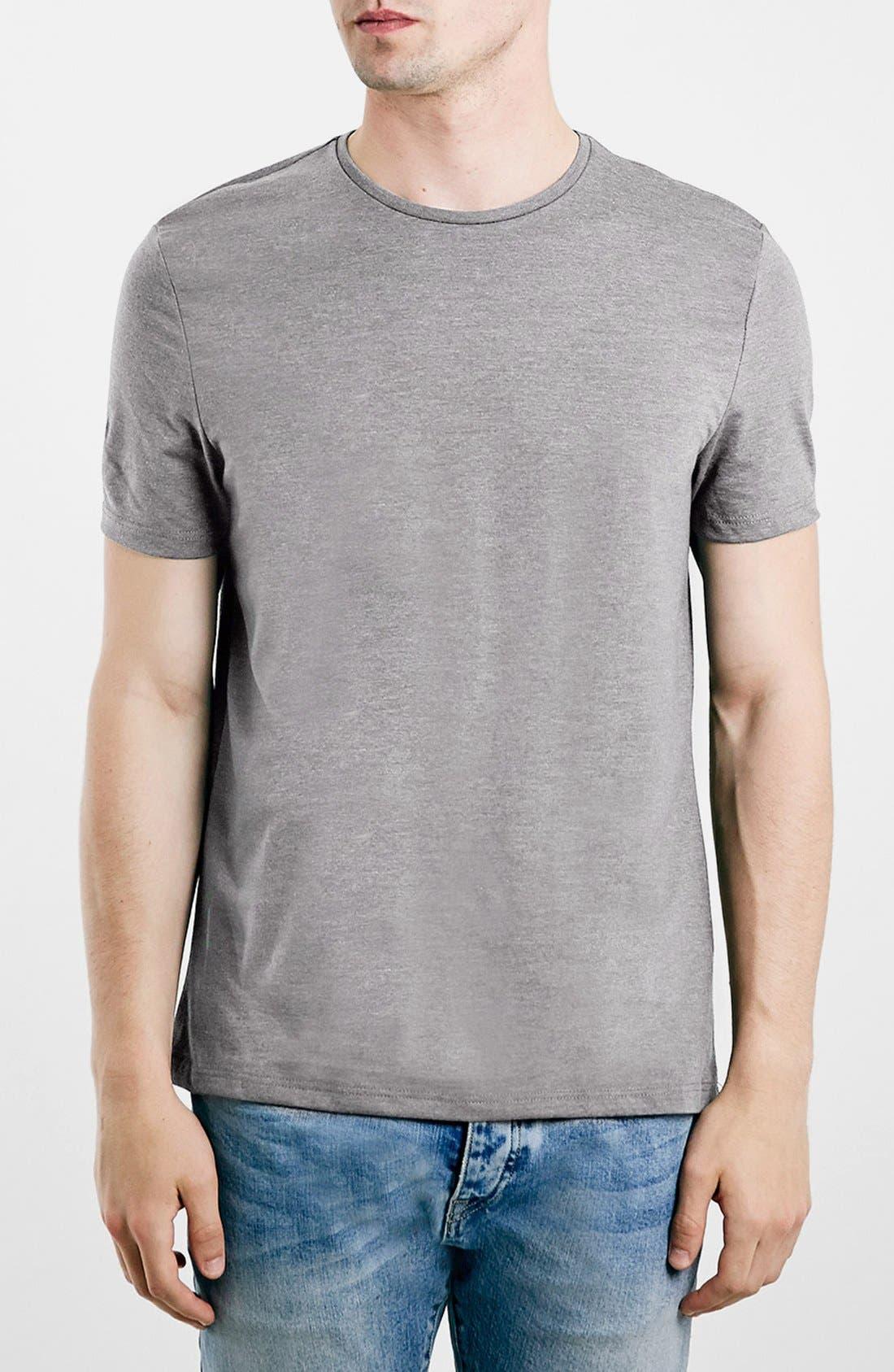 Main Image - Topman Slim Fit Crewneck T-Shirt