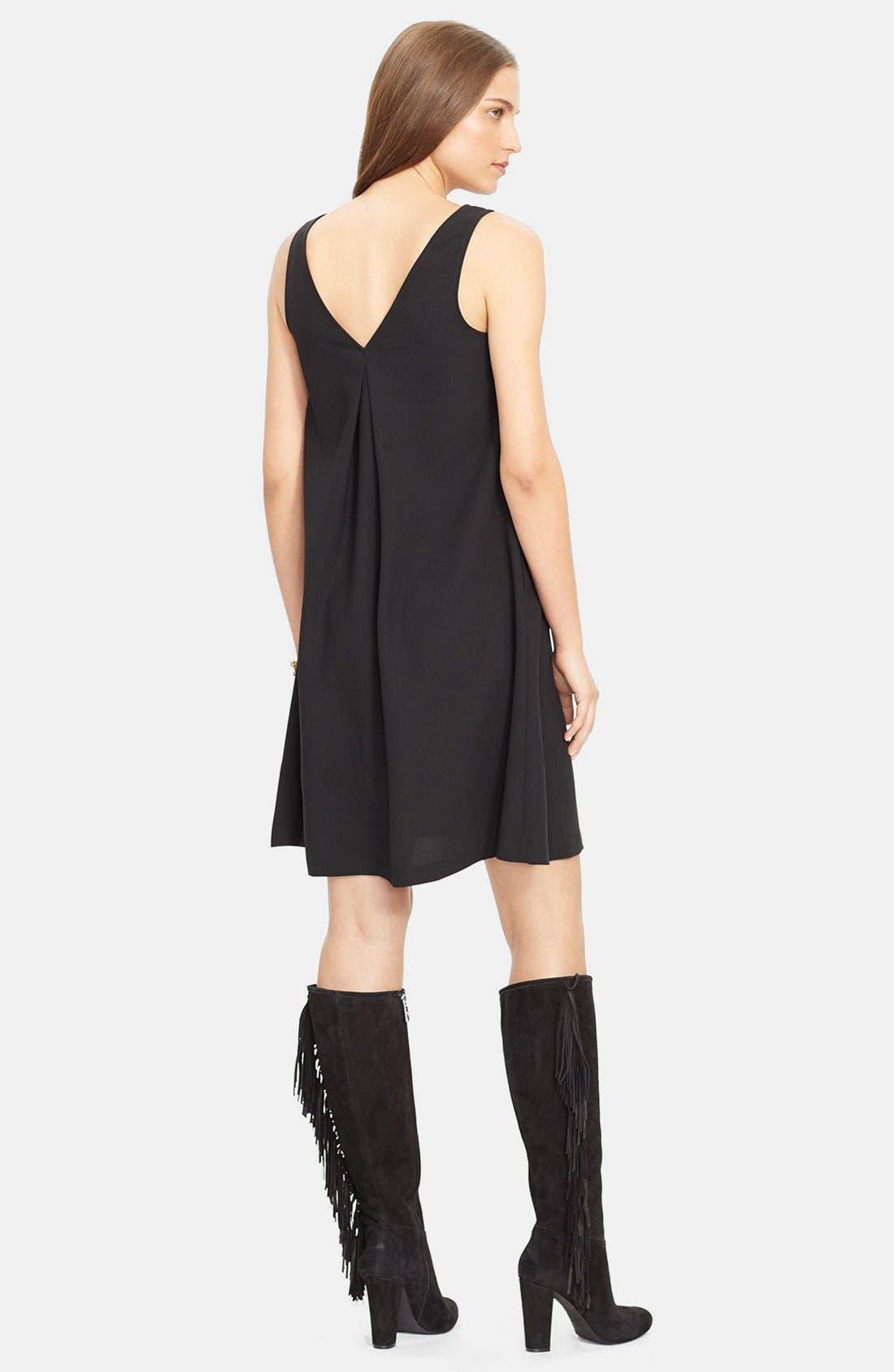 Alternate Image 2  - Lauren Ralph Lauren Sleeveless V-Neck Shift Dress (Regular & Petite)