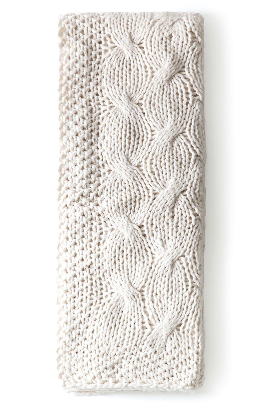 'Malibu' Throw,                         Main,                         color, Antique White