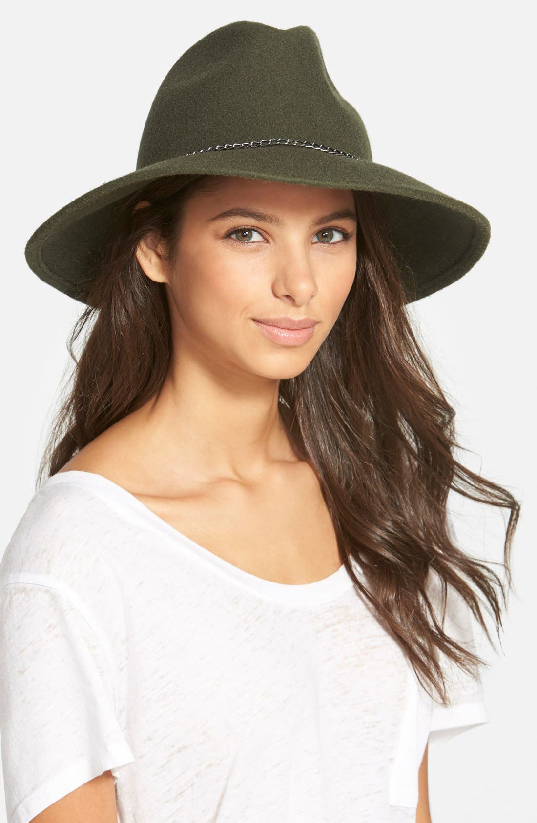 Alternate Image 1 Selected - Nordstrom Chain Trim Panama Hat