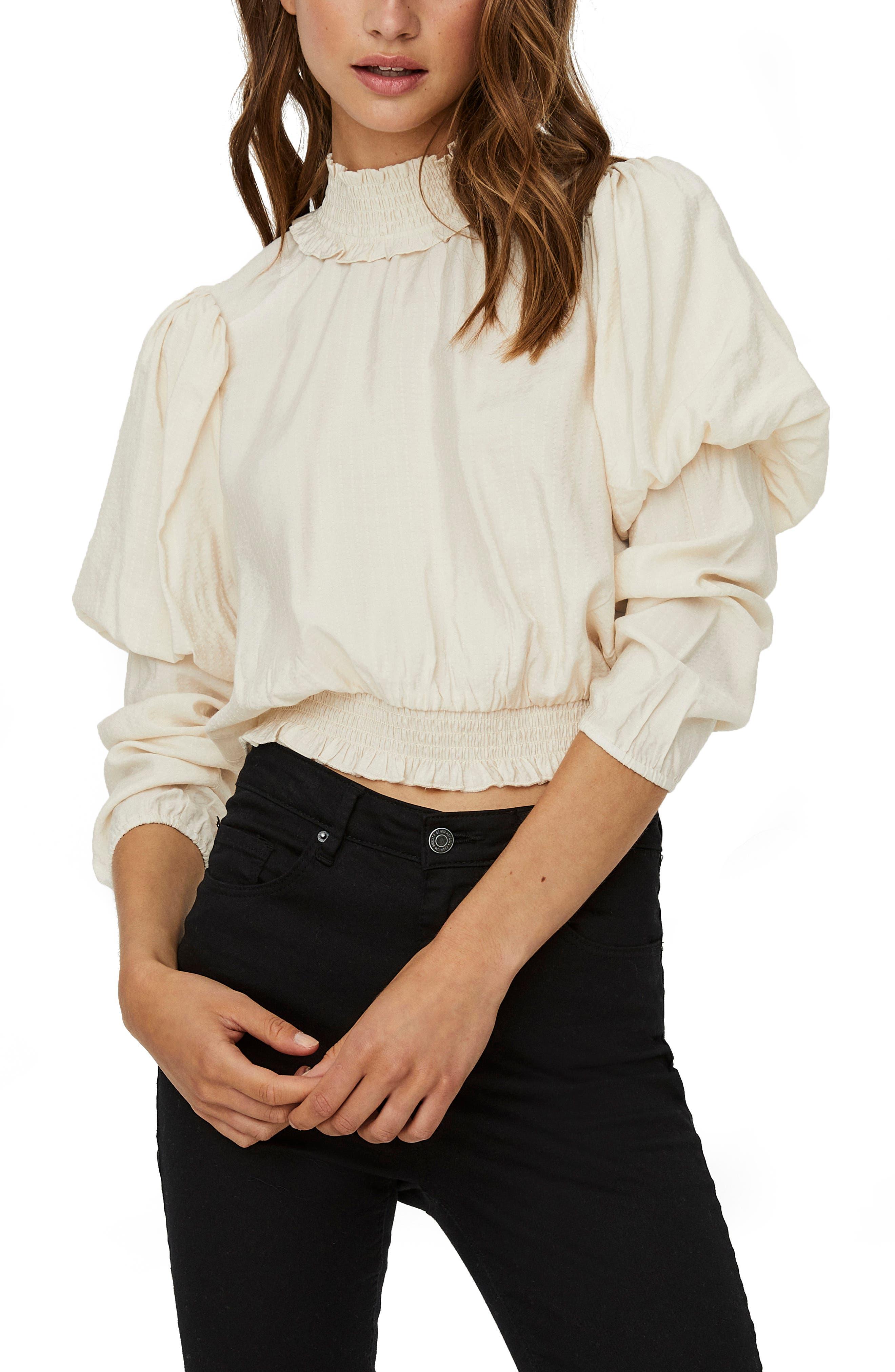 Vero Moda Vmjasmin LS V-Back Blouse su/éter para Mujer