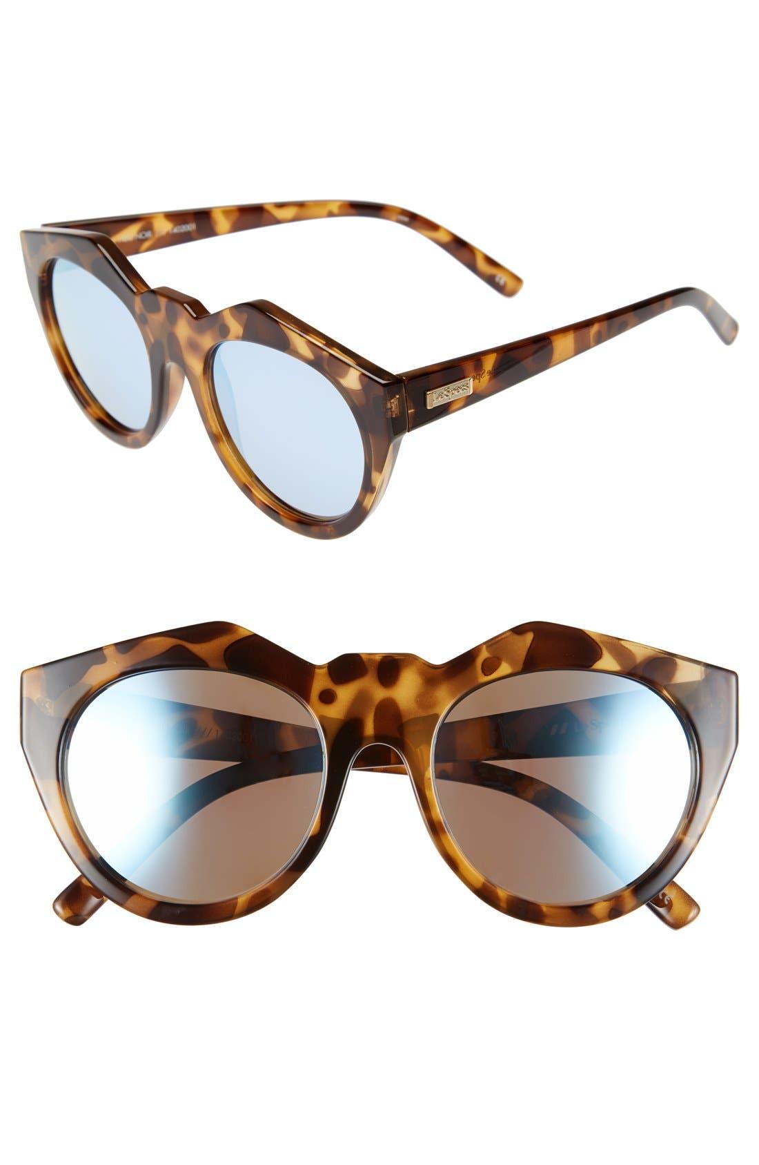 Alternate Image 1 Selected - Le Specs 'Neo Noir' 53mm Oversized Sunglasses