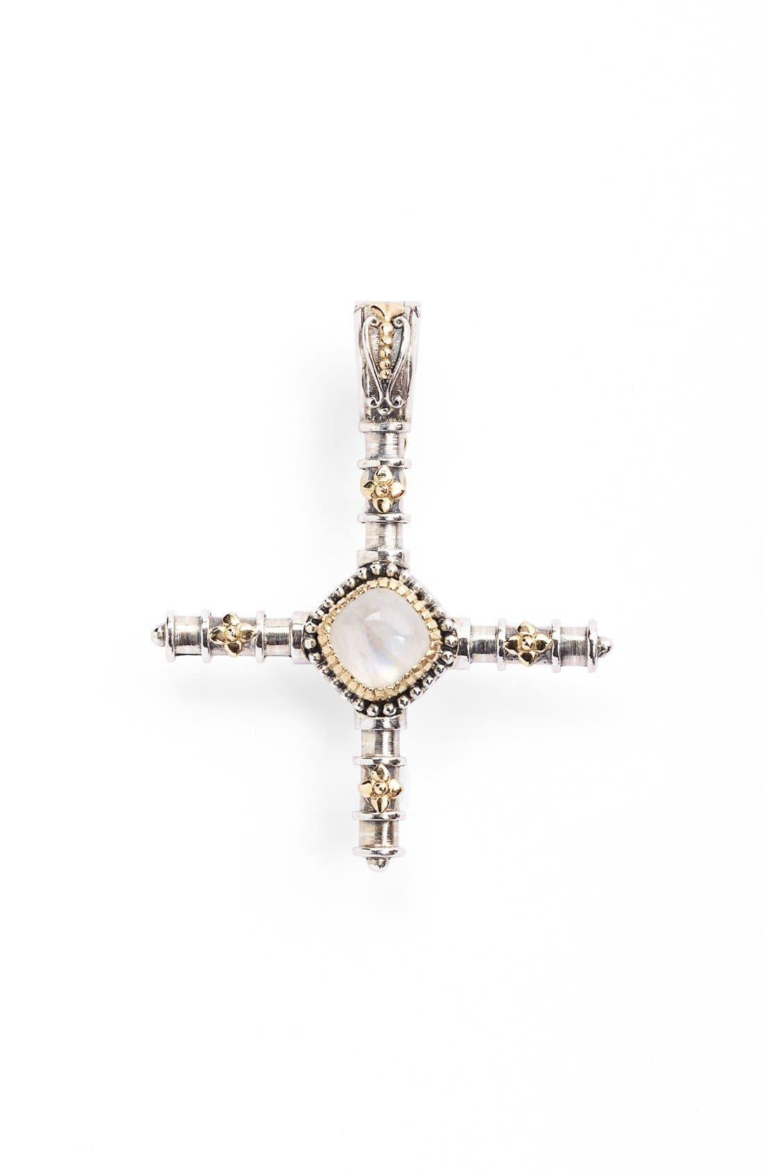 'Erato' Stone Cross Pendant,                             Main thumbnail 1, color,                             Labradorite