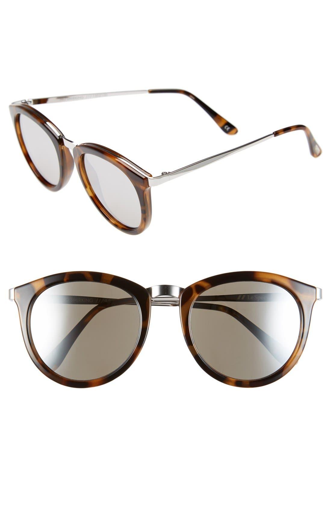 Alternate Image 1 Selected - Le Specs 'No Smirking' 50mm Round Sunglasses