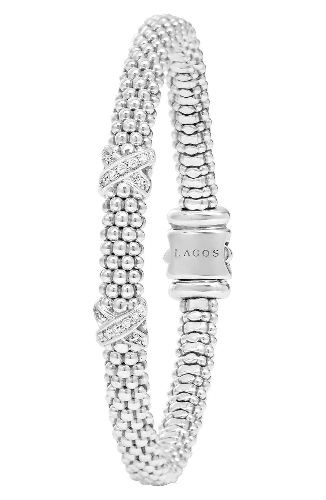 Alternate Image 3  - Lagos 'Signature Caviar' Diamond Rope Bracelet (Online Only)