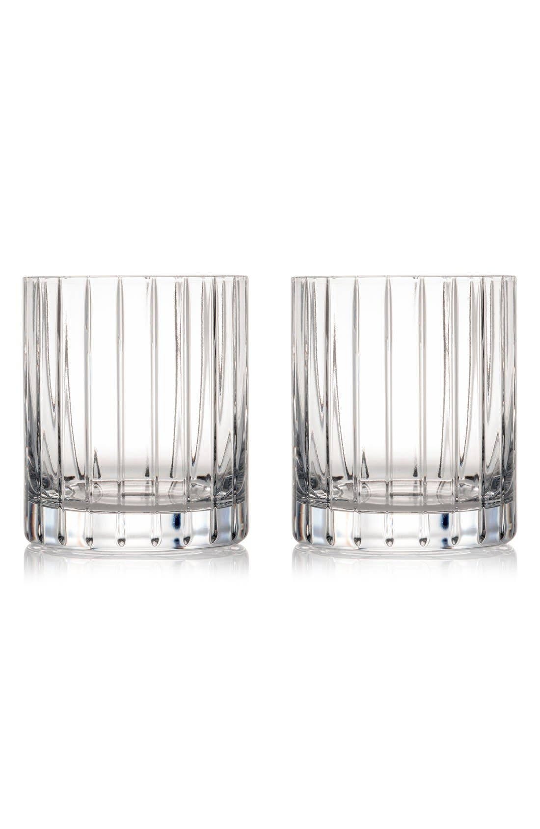 'Avenue' Lead Crystal Double Old Fashioned Glasses,                         Main,                         color, White