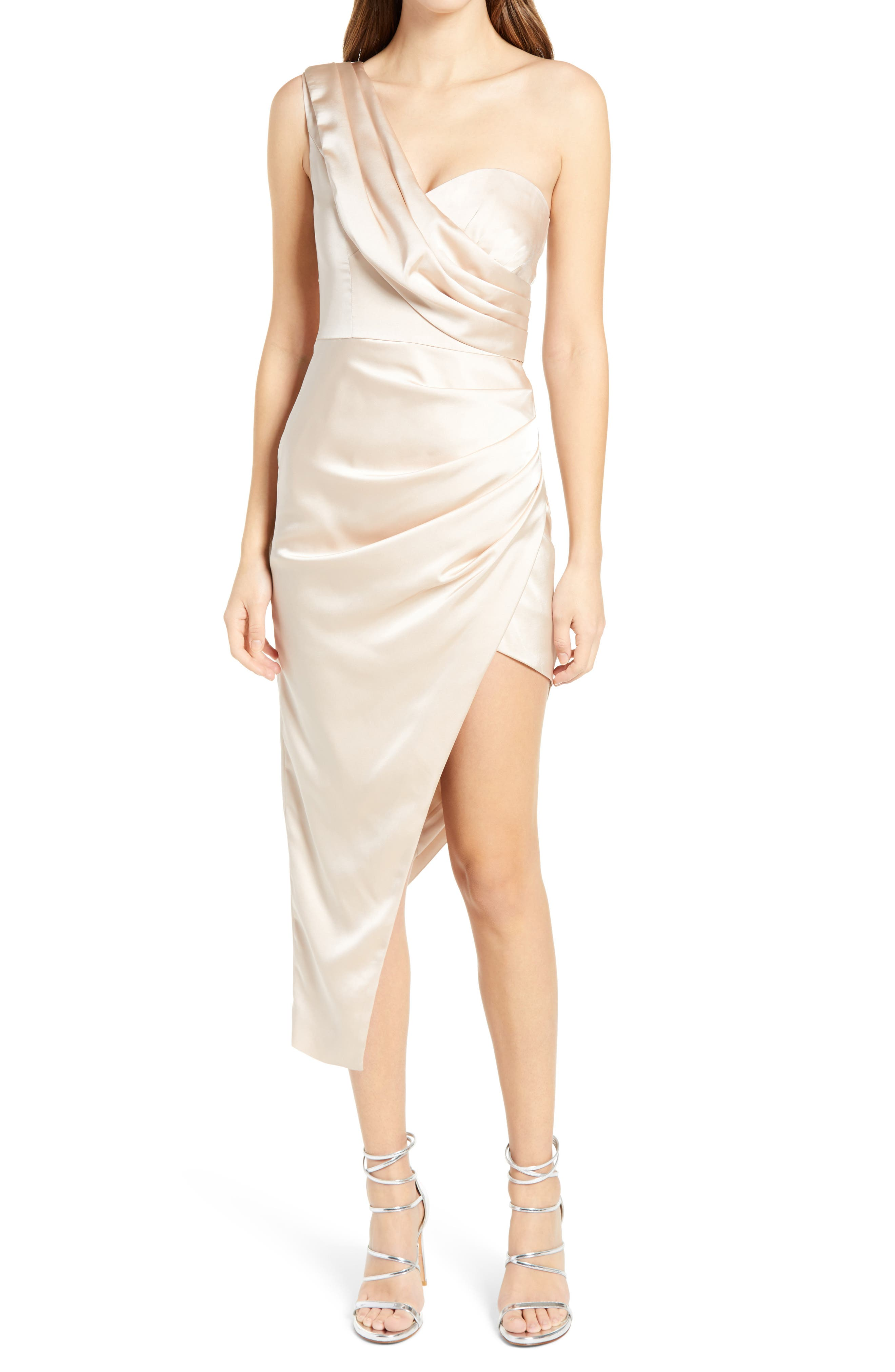 Womens One Shoulder Ruffle Frill Chiffon Casual Party Club Above Knee Dress S-XL