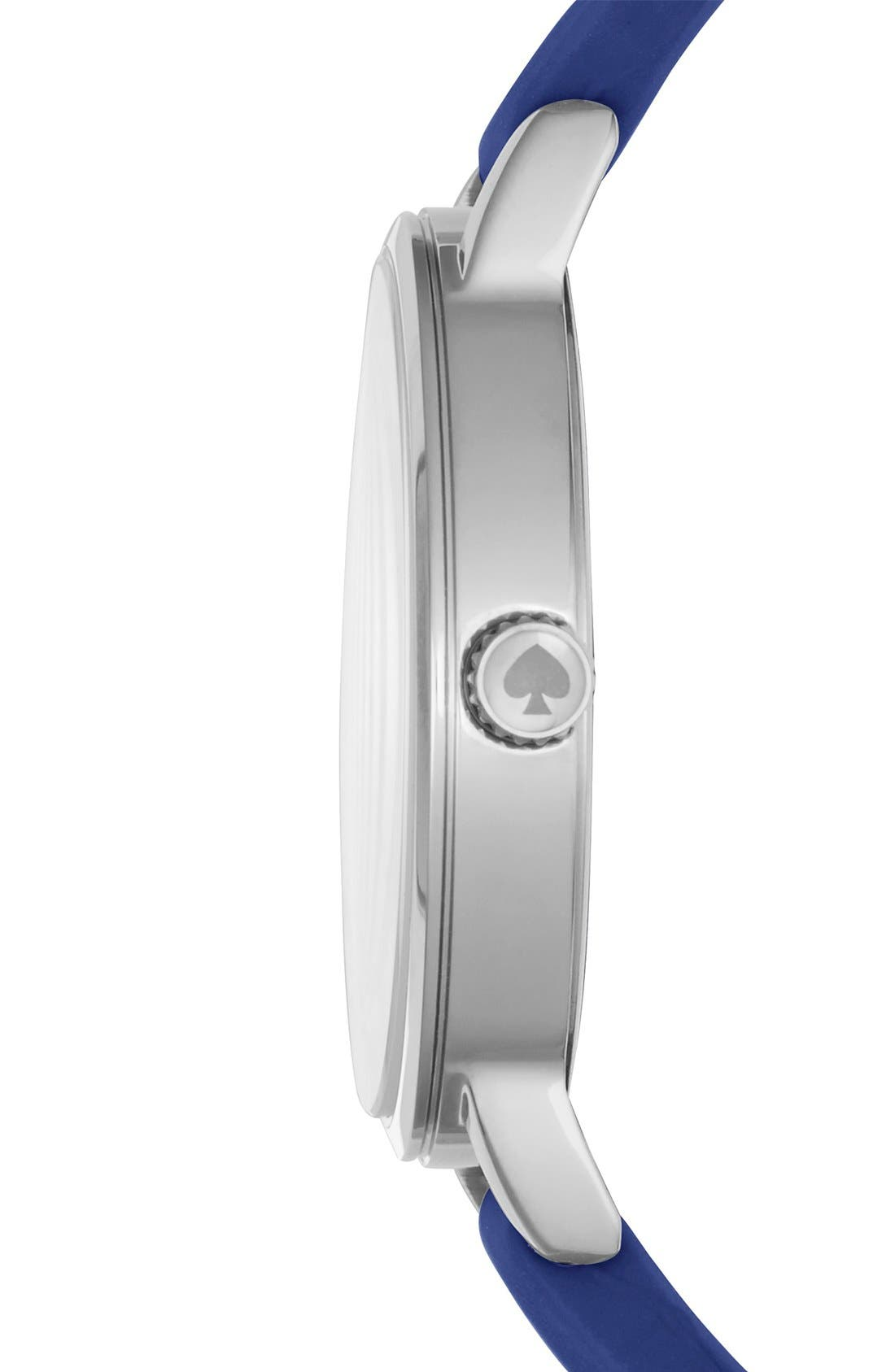 Alternate Image 3  - kate spade new york'crosby' silicone strap watch, 34mm