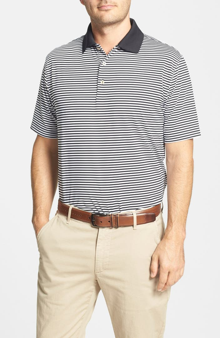 Peter millar 39 competition 39 stripe stretch microfiber golf for Peter millar women s golf shirts
