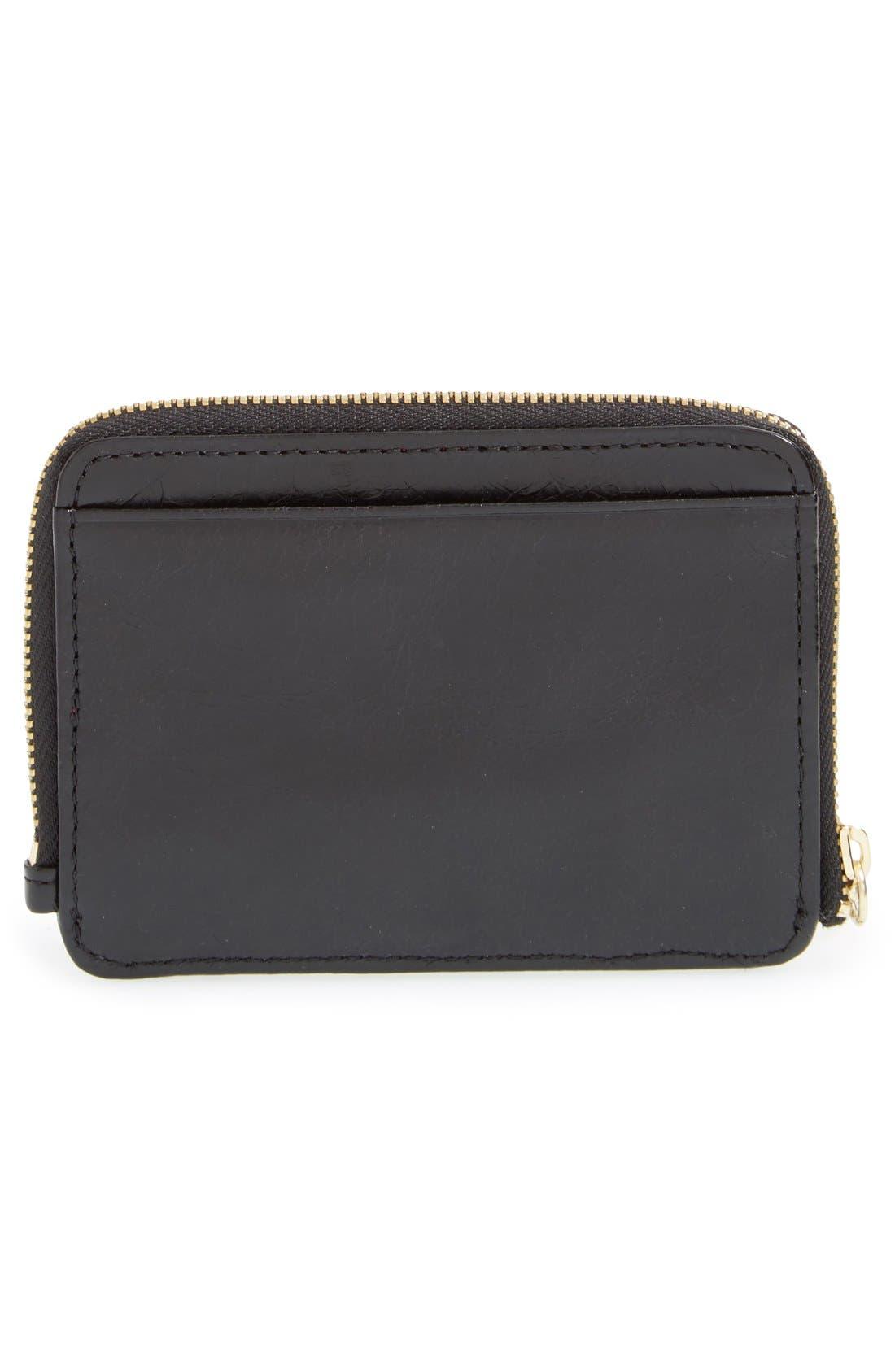 'Katya' Leather Wallet,                             Alternate thumbnail 3, color,                             Black