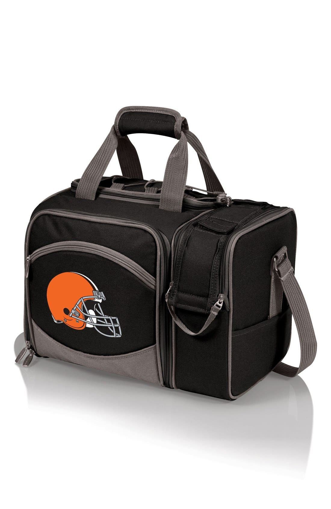 'Malibu' NFL Insulated Picnic Pack,                             Main thumbnail 1, color,                             Cleveland Browns