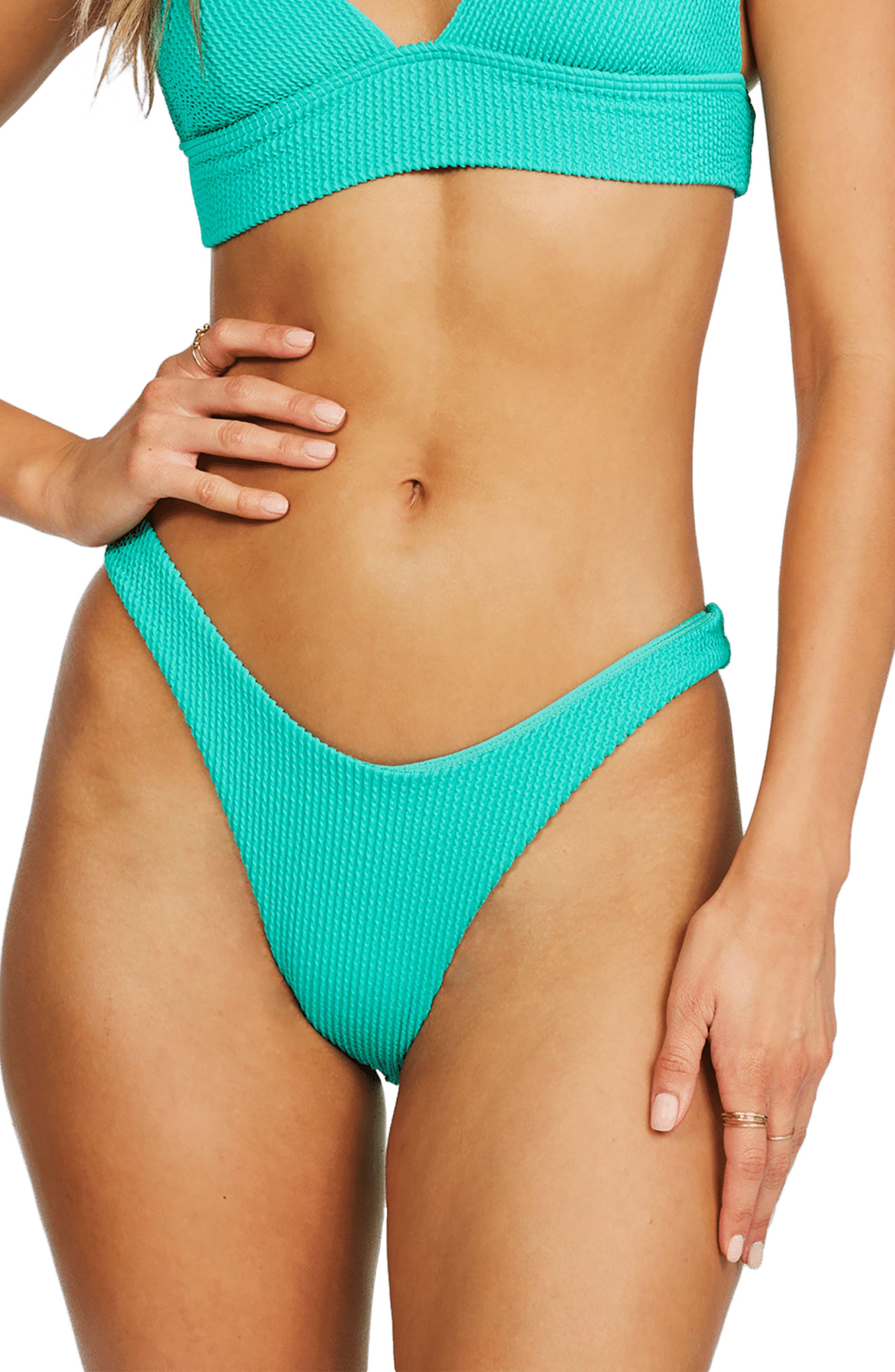 High Tide Blue and White Stripe Bikini size 10 UK