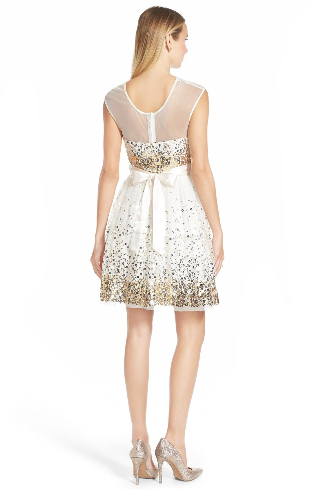 Alternate Image 2  - Love, Nickie Lew 'Confetti' Sequin Skater Dress