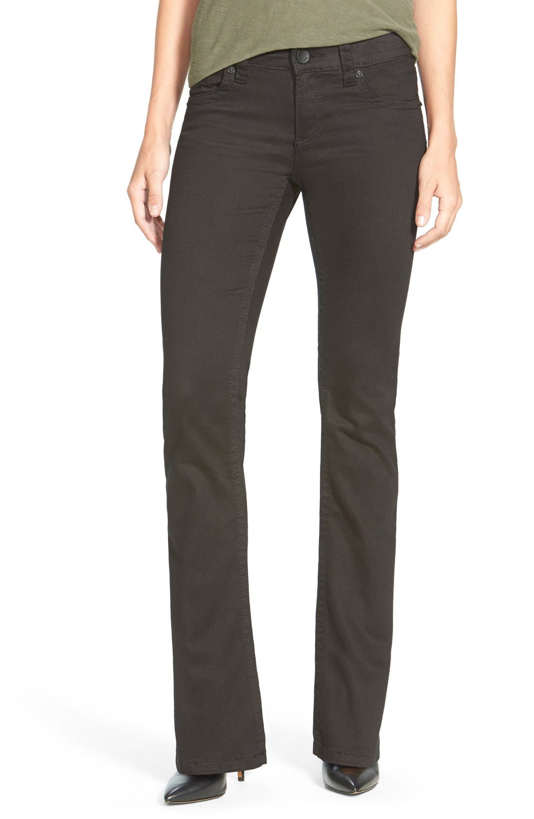 KUT from the Kloth 'Natalie' Stretch Bootcut Jeans (Black)