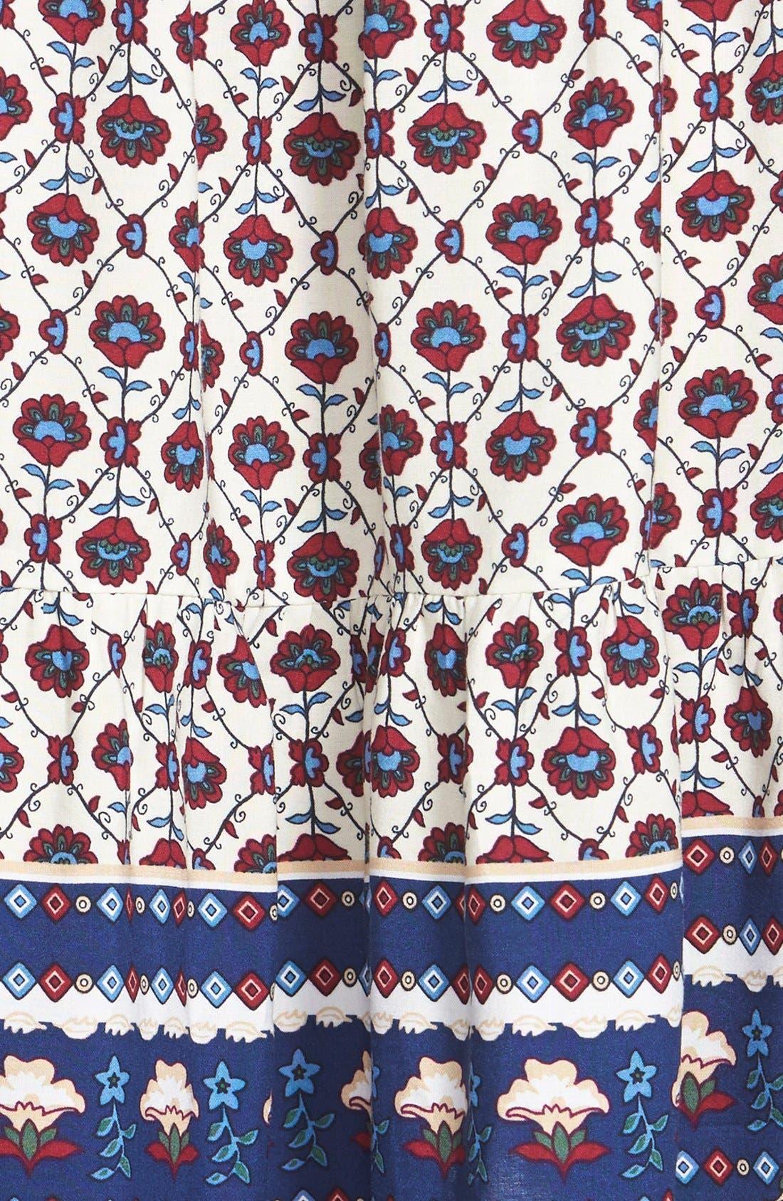 Alternate Image 3  - Sun & Shadow Tie Front Print Babydoll Dress