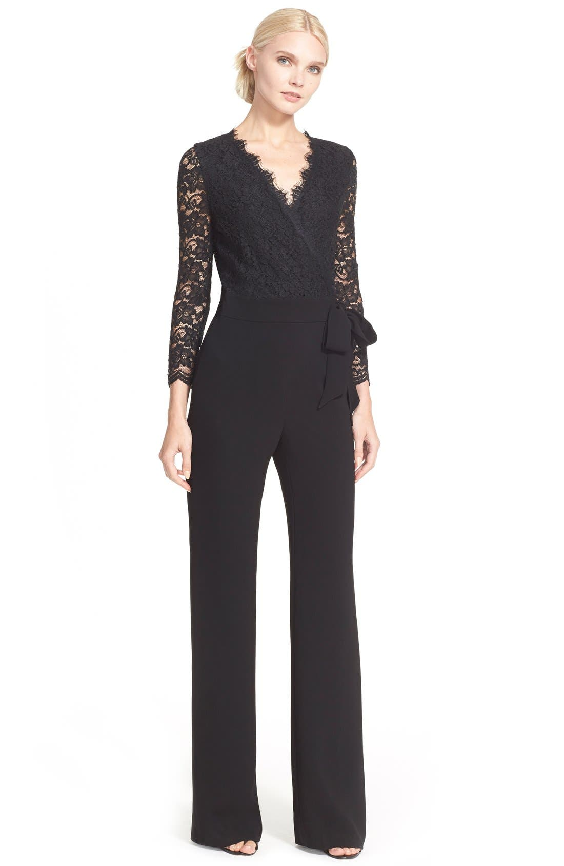 Alternate Image 1 Selected - Diane von Furstenberg 'Marlowe' Lace Jumpsuit