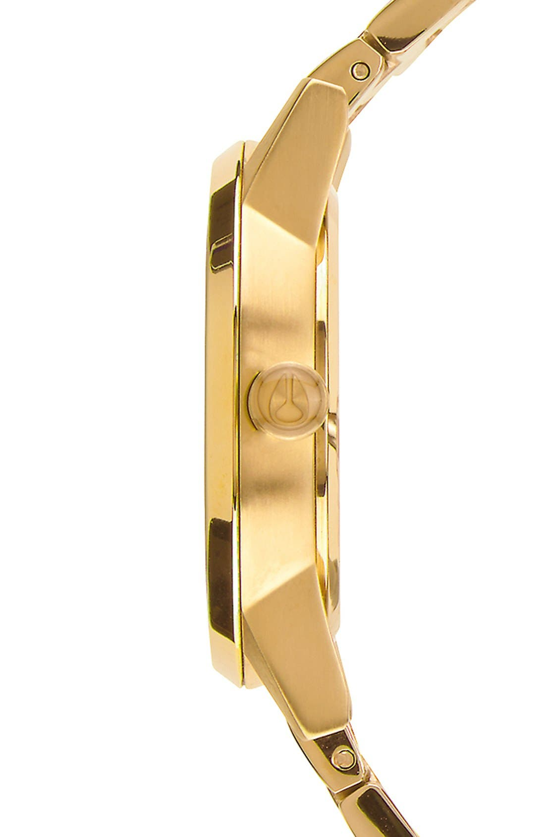 'Kensington' Bracelet Watch, 32mm,                             Alternate thumbnail 3, color,                             Gold/ Black Sunray