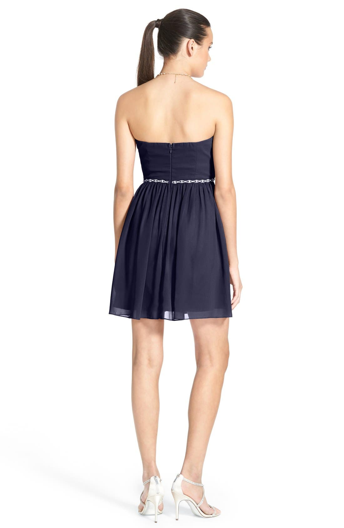 Alternate Image 2  - a. dreaEmbellished Strapless Skater Dress