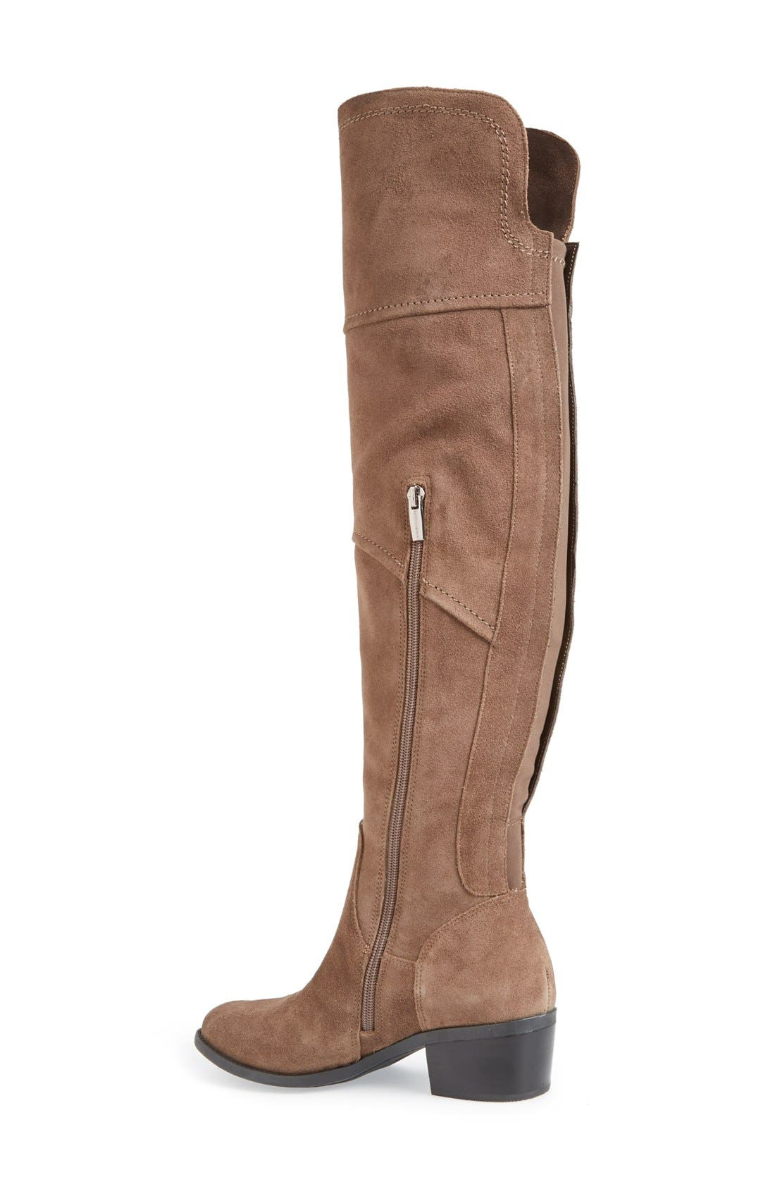 'Bernadine' Over the Knee Boot,                             Alternate thumbnail 2, color,                             Midnght Taupe Suede