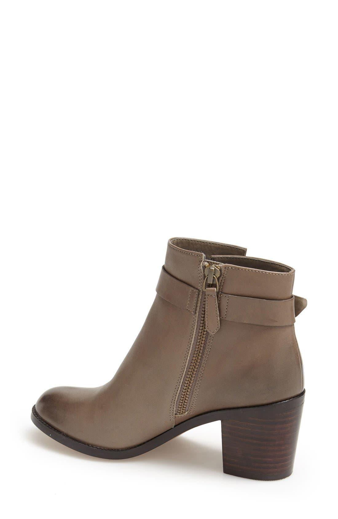 Alternate Image 2  - Halogen® 'Glenna' Leather Ankle Bootie (Women)
