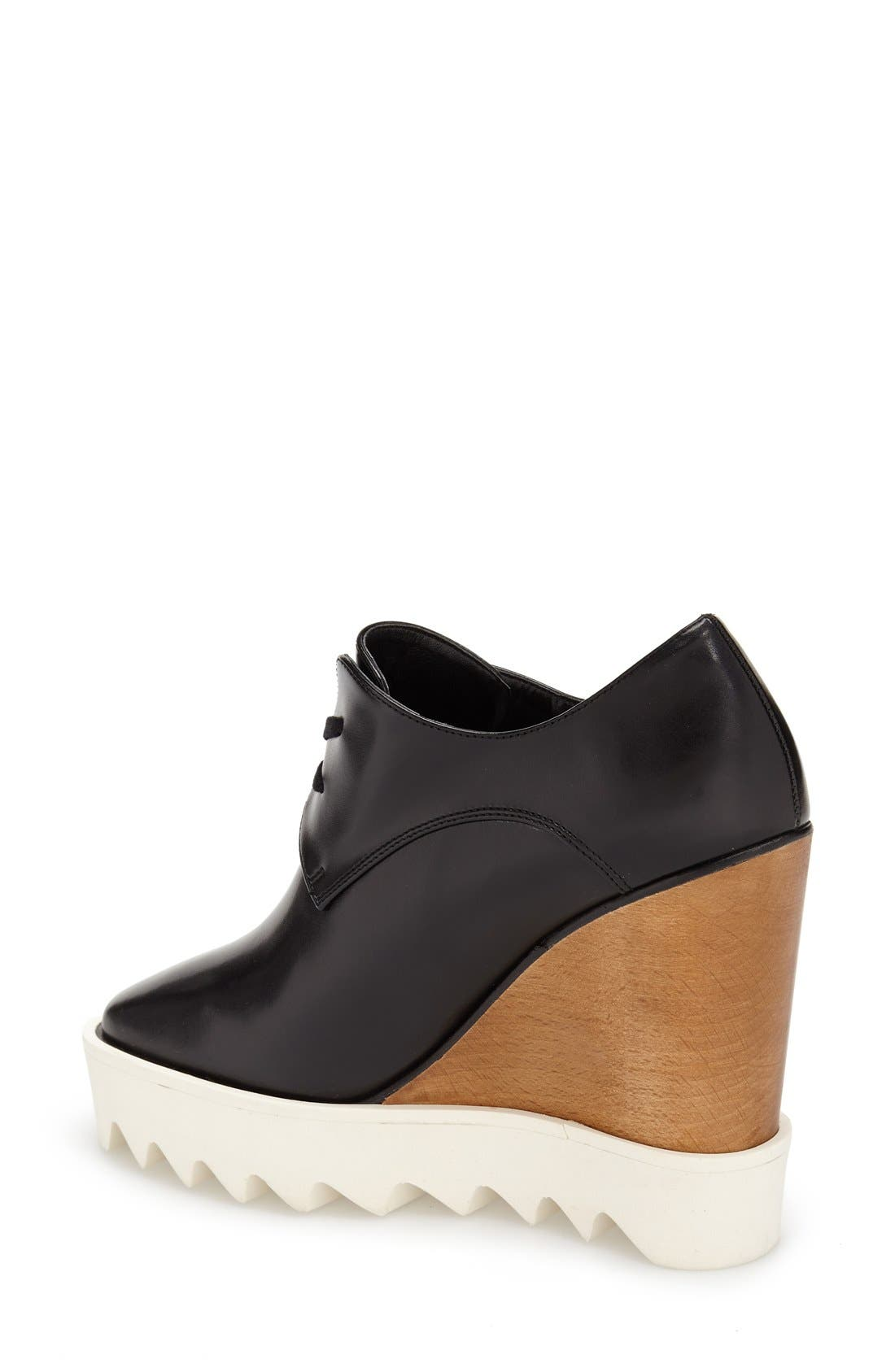 Alternate Image 2  - Stella McCartney Lace-Up Wedge Oxford (Women)