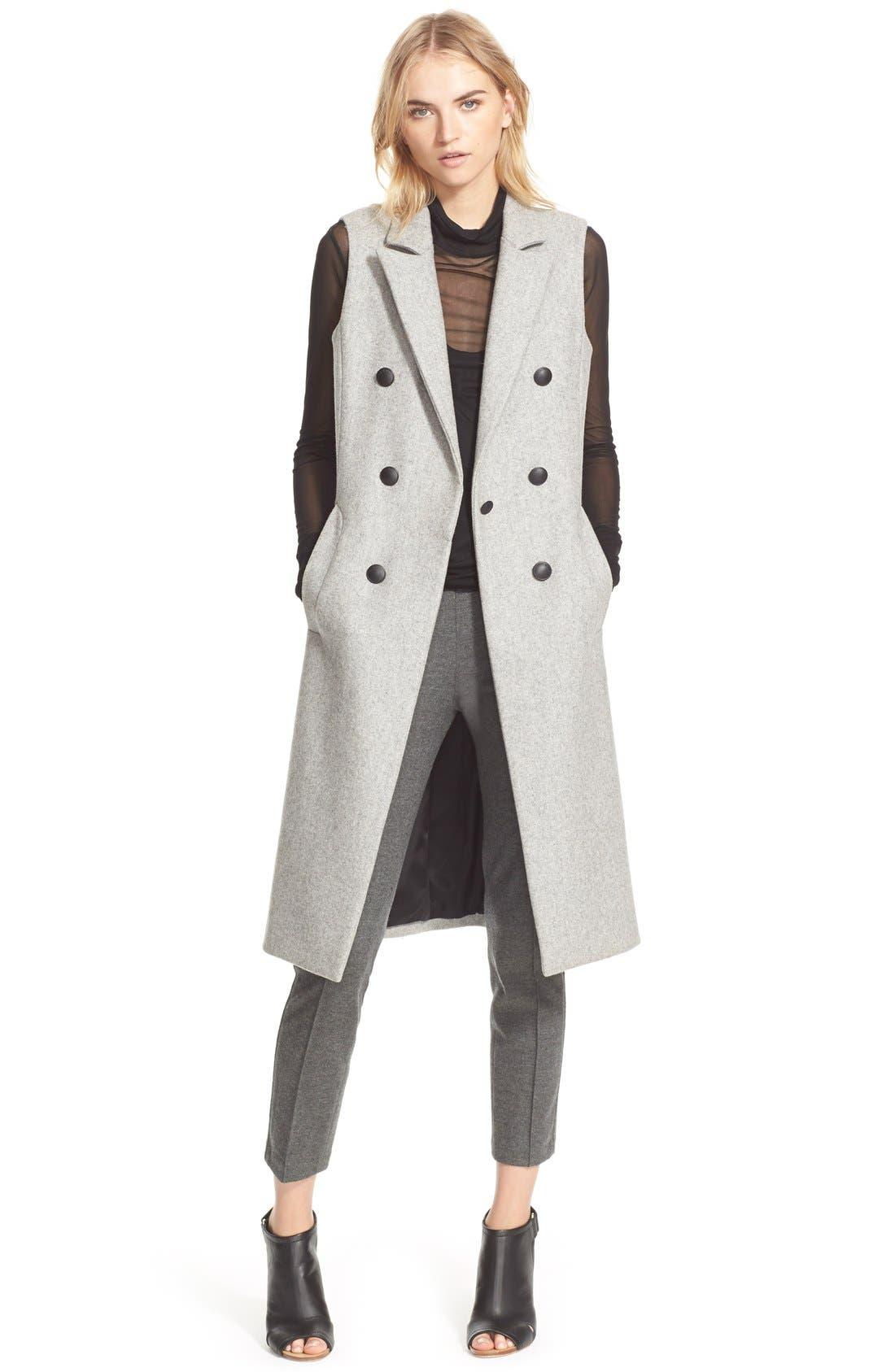 Alternate Image 3  - rag & bone 'Faye' Long Double Breasted Wool Blend Vest