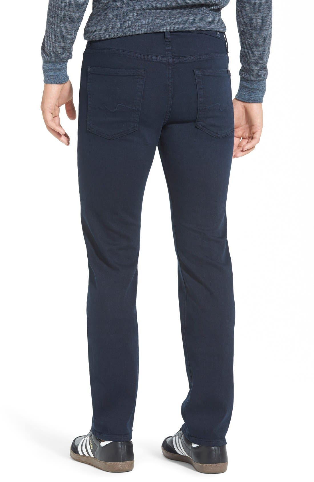 Alternate Image 3  - 7 For All Mankind® 'Slimmy - Luxe Performance' Slim Fit Jeans (Night Navy)