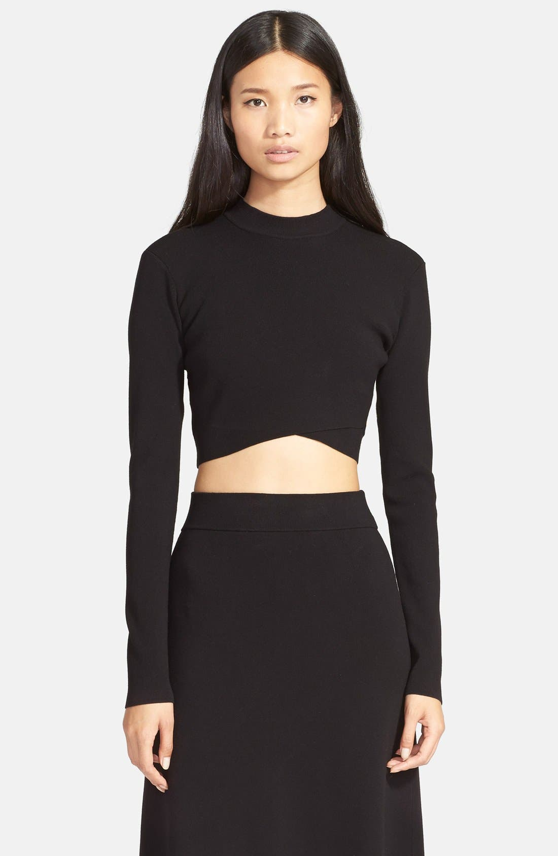 'Ford' Crop Sweater,                             Main thumbnail 1, color,                             Black