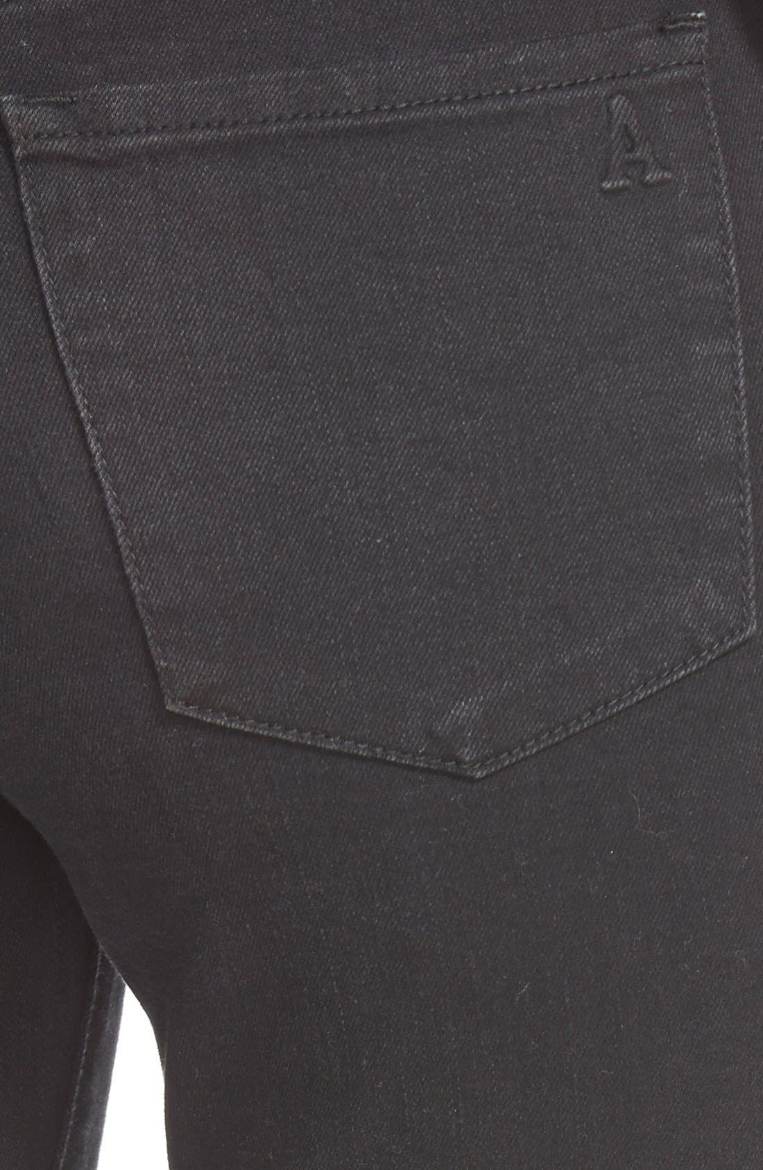 Alternate Image 4  - Articles of Society 'Sarah' Distressed Skinny Jeans (Black Cat)