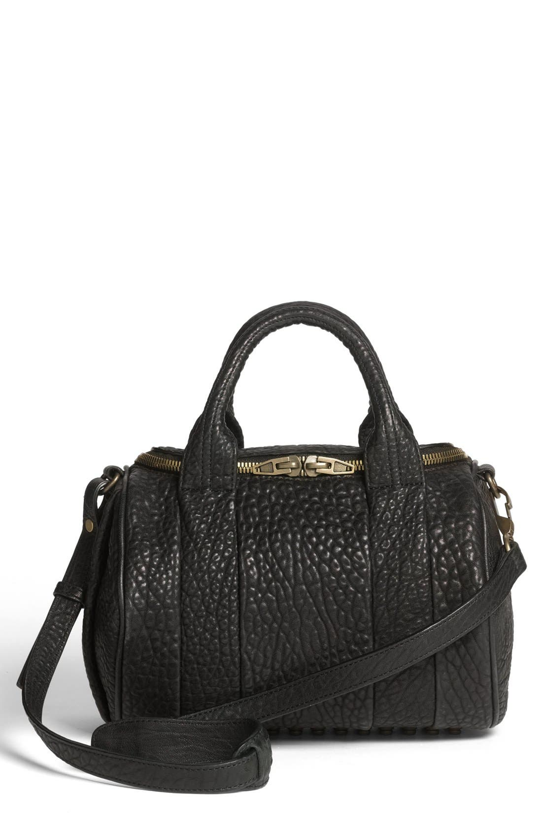 Alternate Image 1 Selected - Alexander Wang 'Rockie - Antique Brass' Leather Crossbody Satchel
