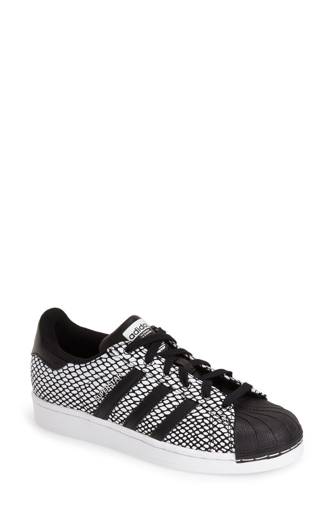 Alternate Image 1 Selected - adidas 'Superstar' Snake Embossed Sneaker (Women)