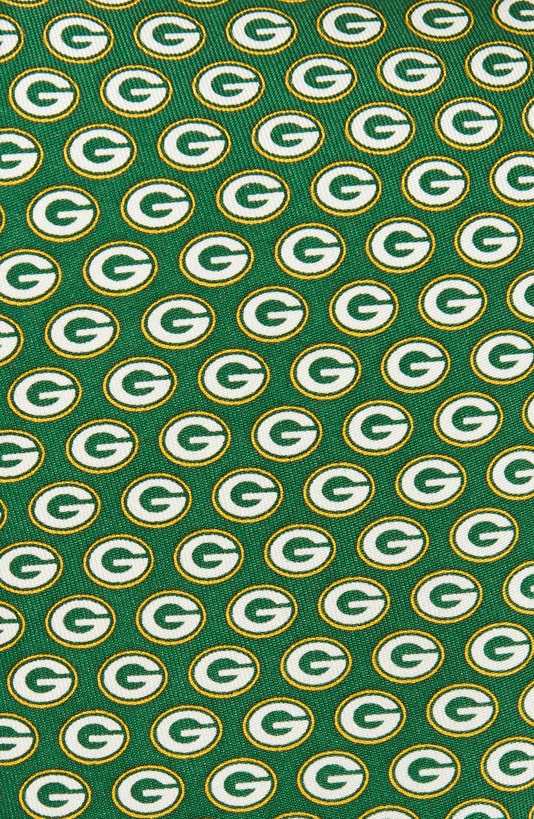 Green Bay Packers - NFL Woven Silk Tie,                             Alternate thumbnail 2, color,                             Green