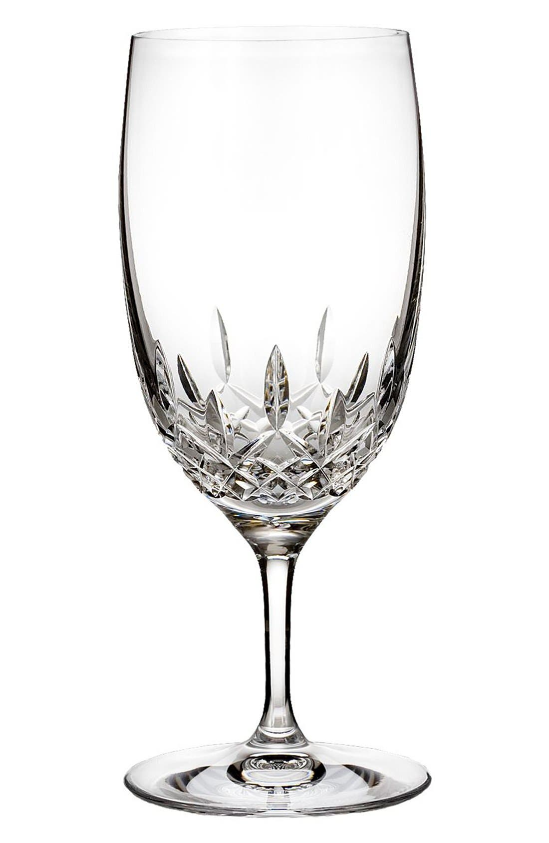 'Lismore Essence' Lead Crystal Water Glass,                             Main thumbnail 1, color,                             Clear