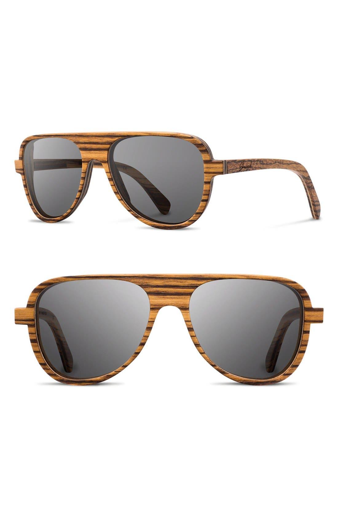 shwood medford 56mm wood sunglasses nordstrom