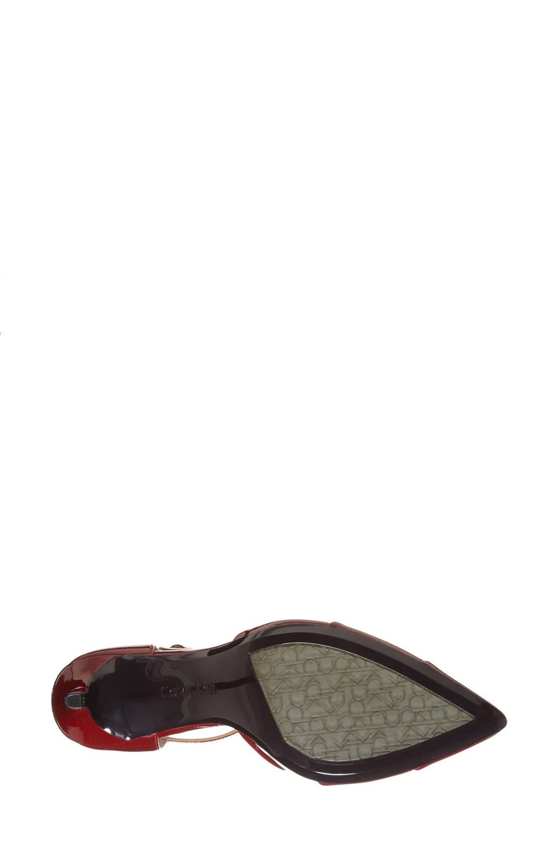 Alternate Image 4  - Calvin Klein 'Ginae' Pointy Cap Toe T-Strap Pump (Women)