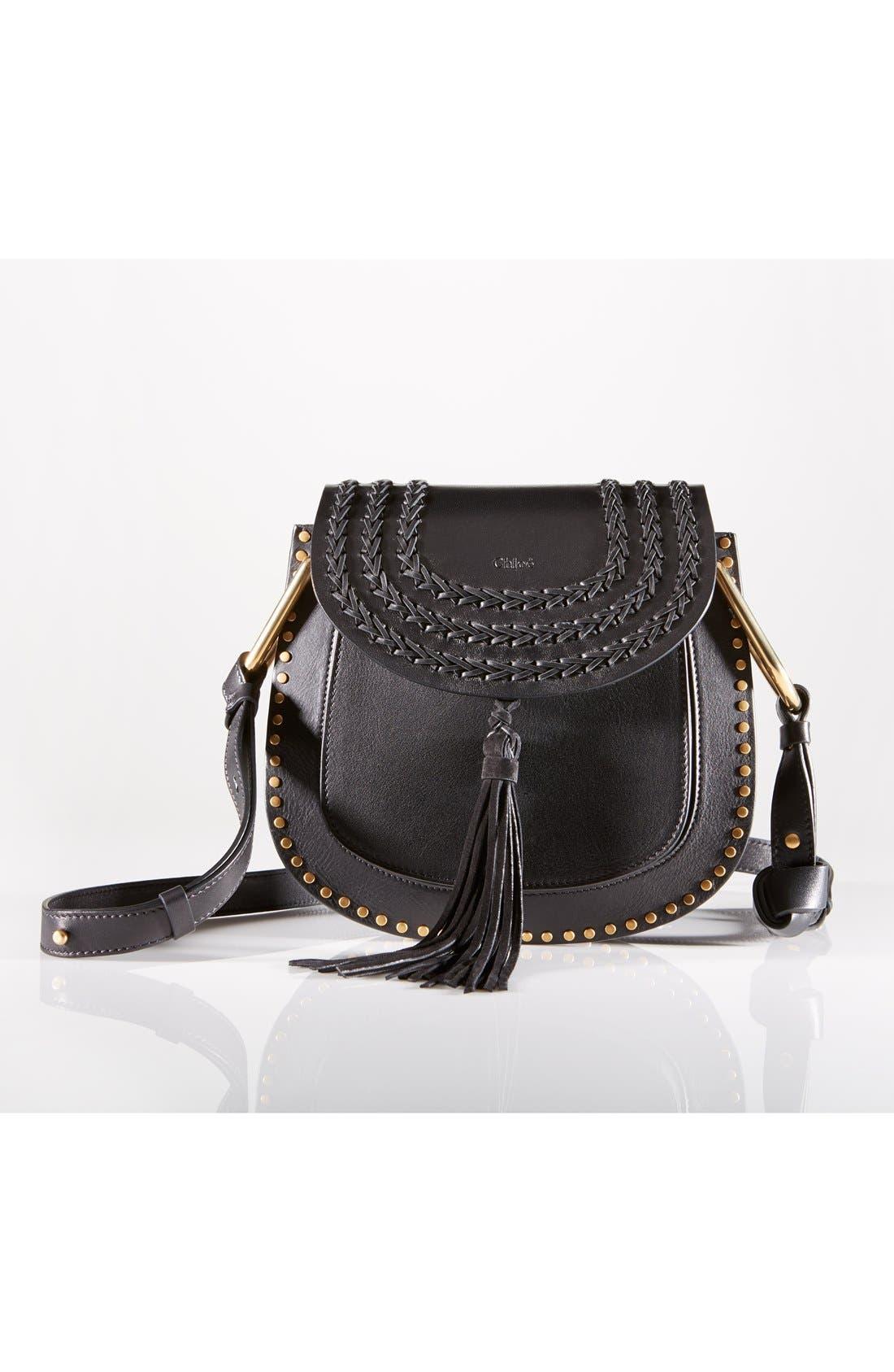 'Small Hudson' Studded Calfskin Leather Crossbody Bag,                             Alternate thumbnail 2, color,