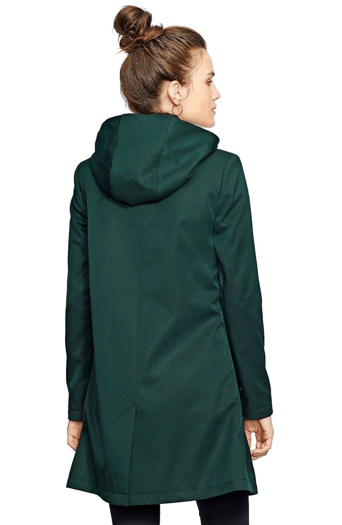 Alternate Image 2  - Lauren Ralph Lauren A-Line Raincoat (Regular & Petite) (Nordstrom Exclusive)