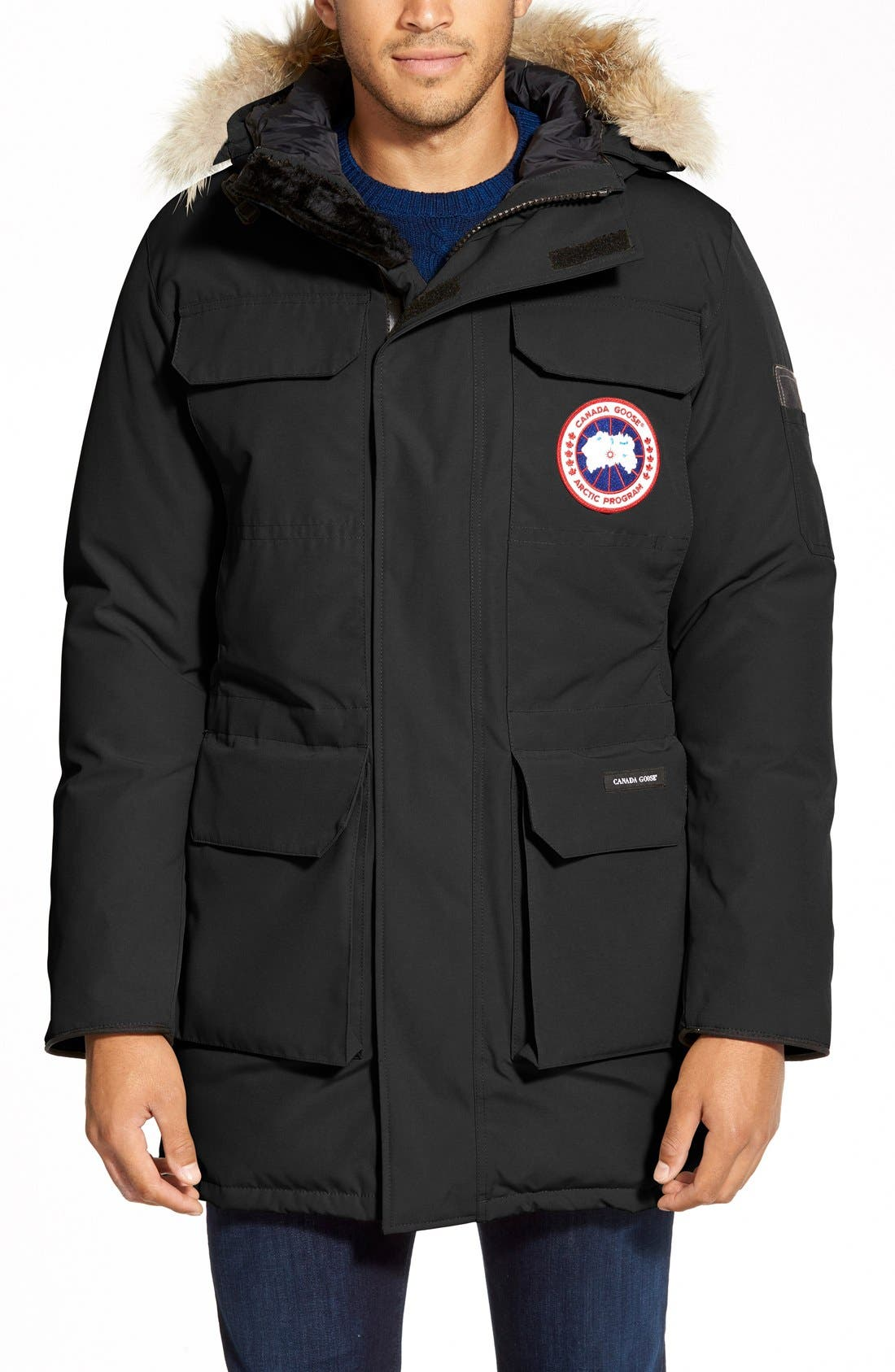 Main Image - Canada Goose 'Citadel' Slim Fit Parka with Genuine Coyote Fur