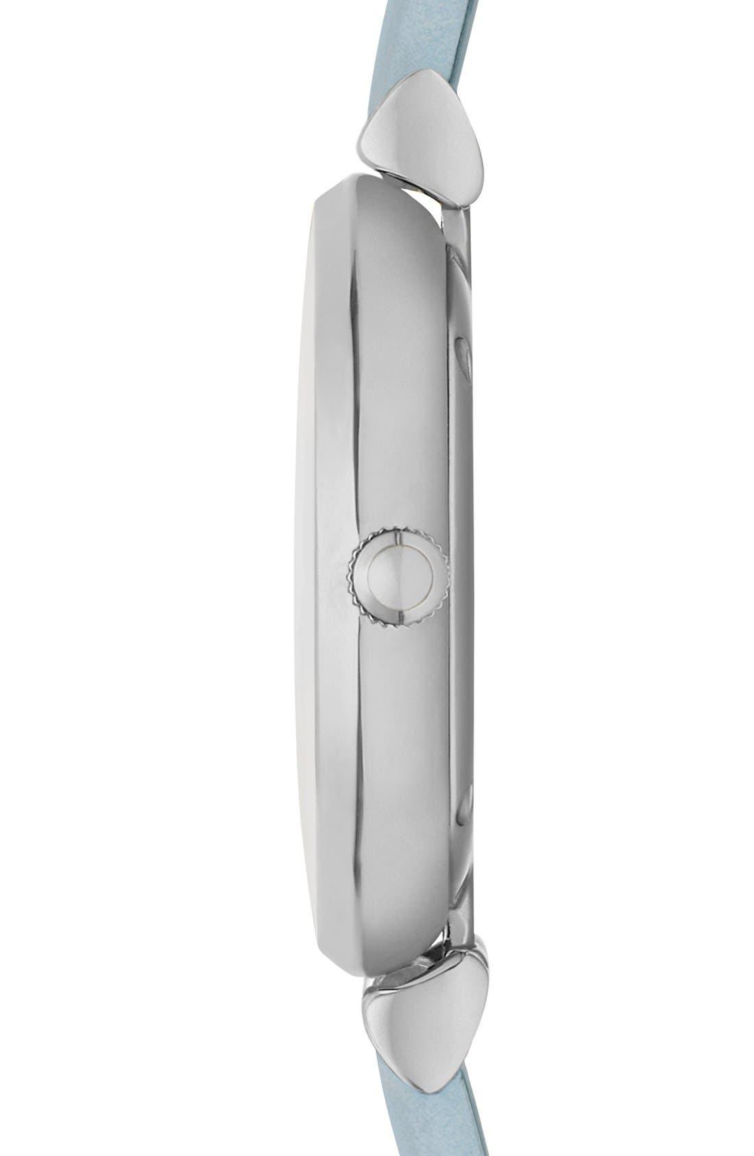 Alternate Image 3  - EmporioArmani 'Retro' Leather Strap Watch, 32mm