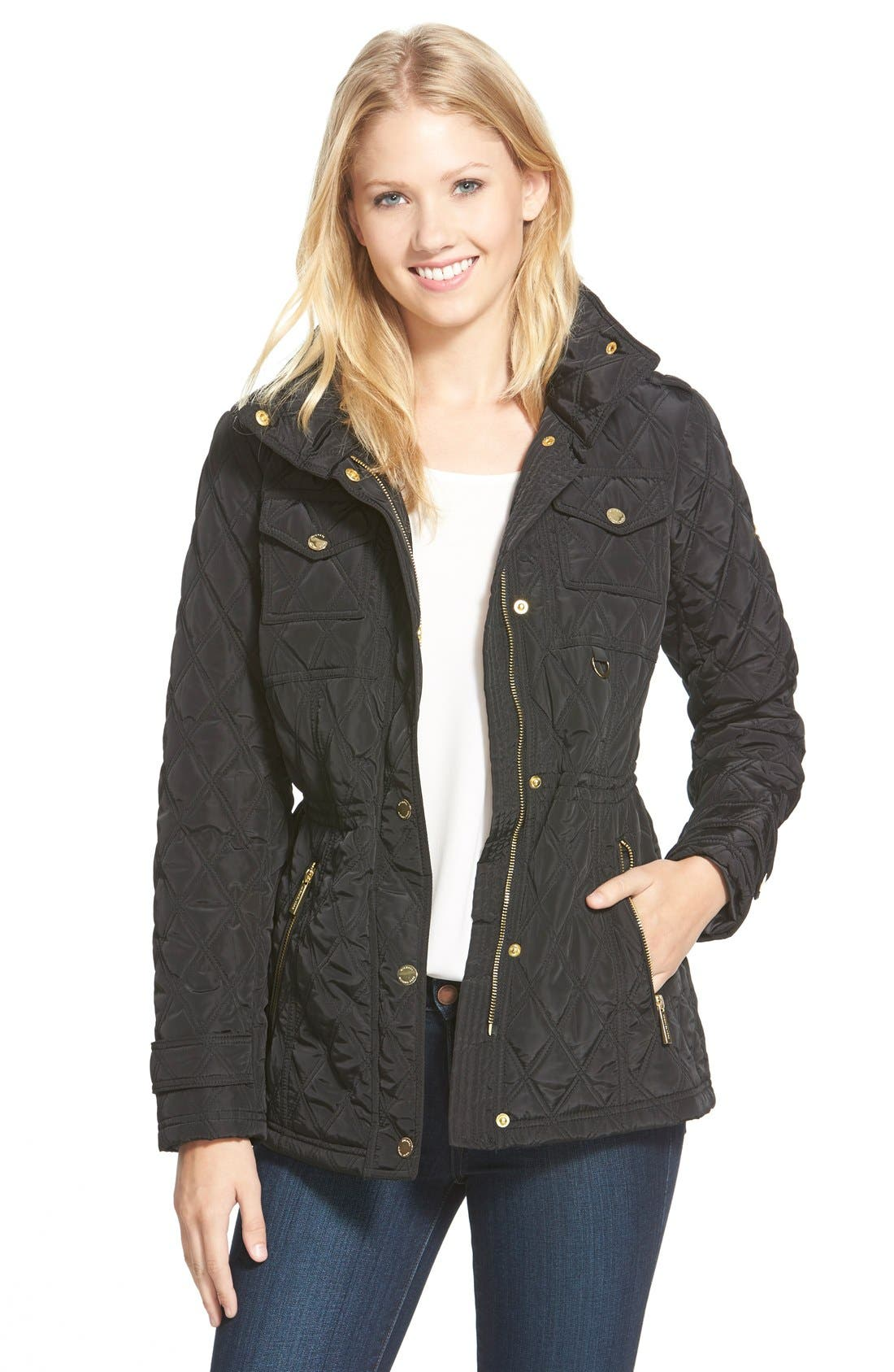 Alternate Image 1 Selected - MICHAEL Michael Kors Quilted Field Jacket