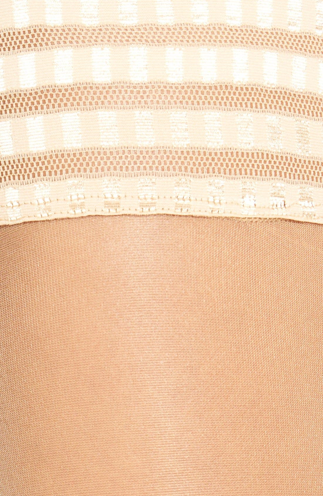 'Pure Matt 20' Stay-Up Stockings,                             Alternate thumbnail 3, color,                             Golden