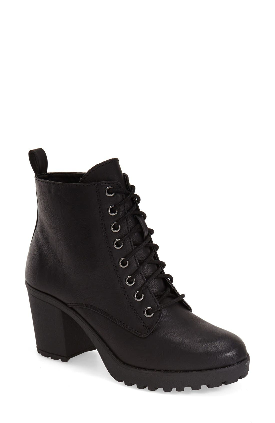 Main Image - MIA 'Kat' Lace-Up Lug Bootie (Women)