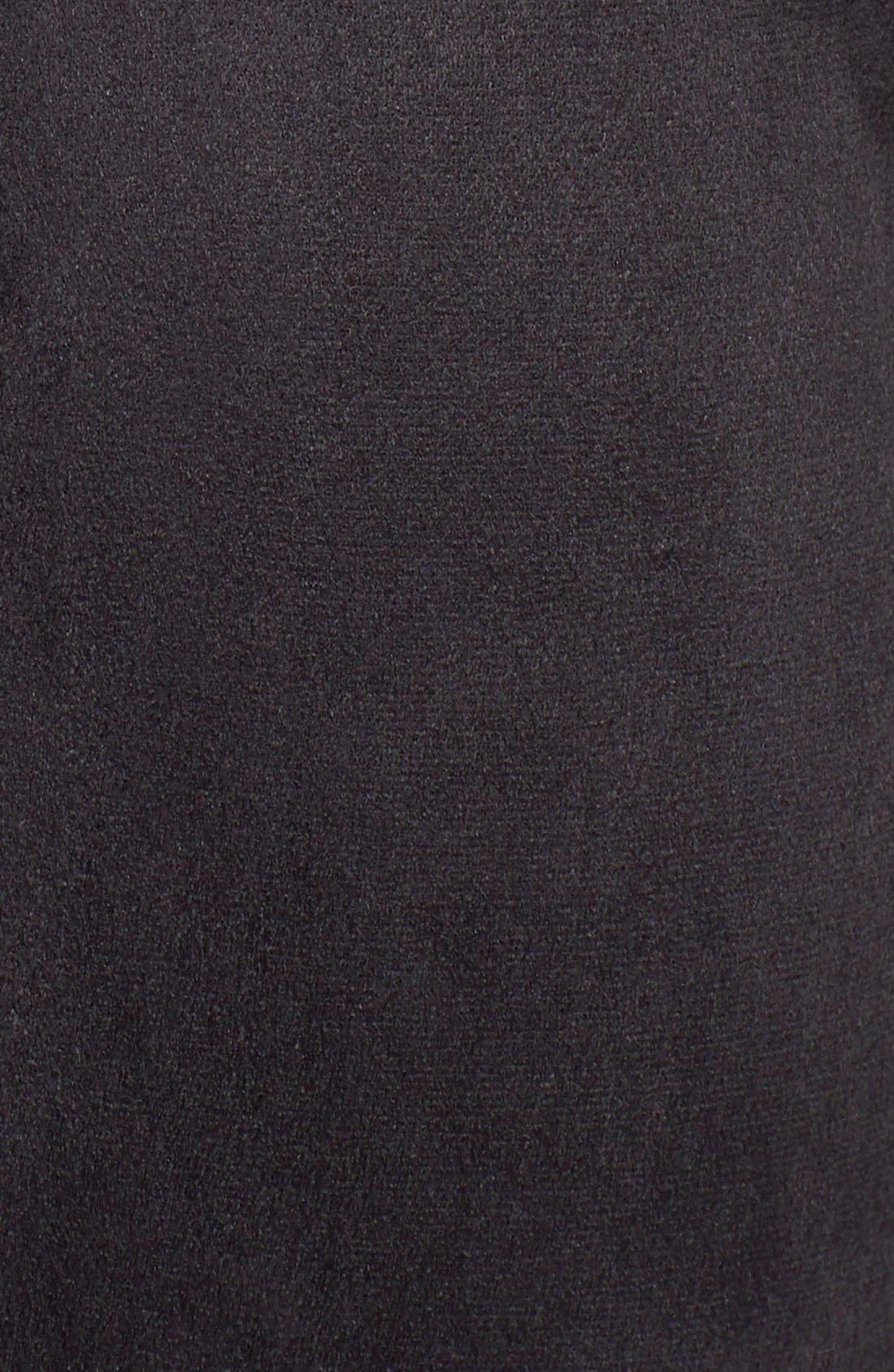 TwobyVince CamutoFauxSuede & PonteLeggings,                             Alternate thumbnail 5, color,                             Rich Black