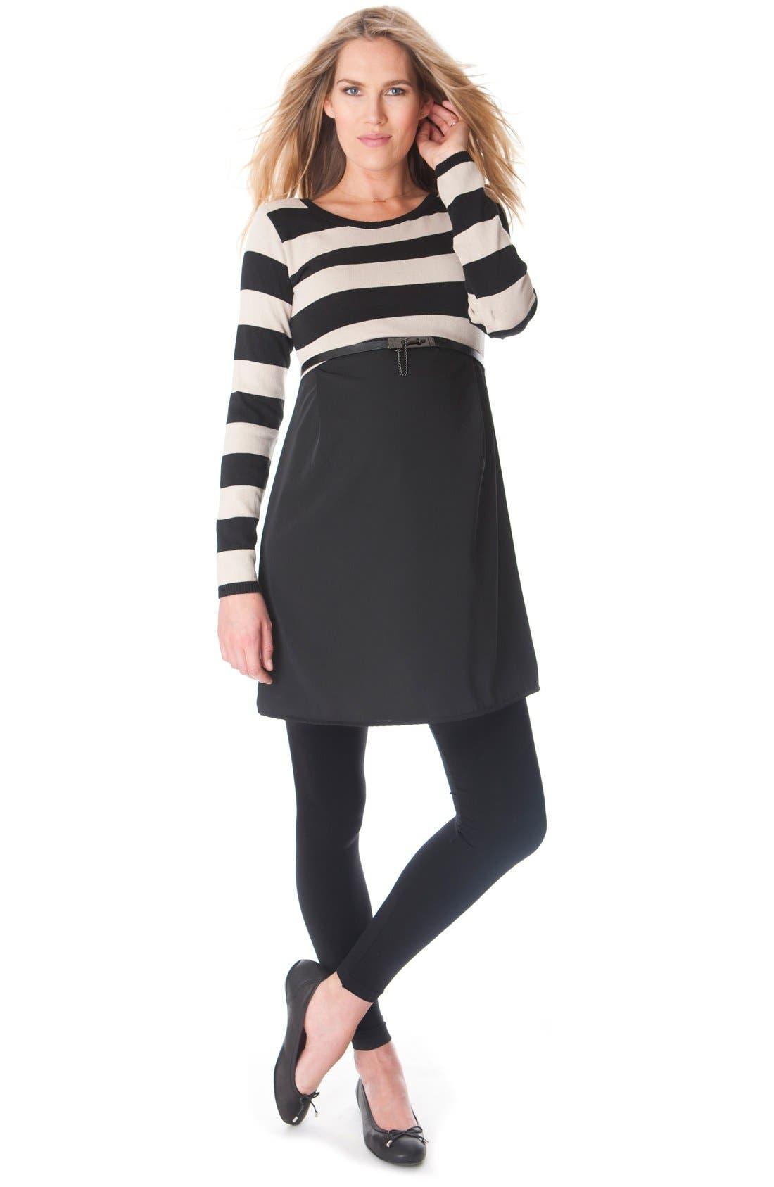 Seraphine 'Lynn' Stripe Maternity Dress
