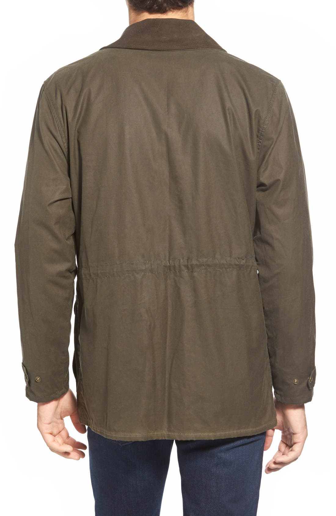 'Cover Cloth Mile Marker' Waxed Cotton Coat,                             Alternate thumbnail 6, color,                             Otter Green