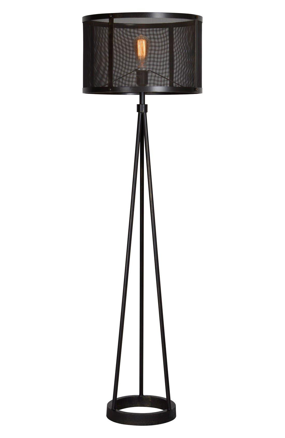 'Livingstone' Floor Lamp,                             Main thumbnail 1, color,                             Black